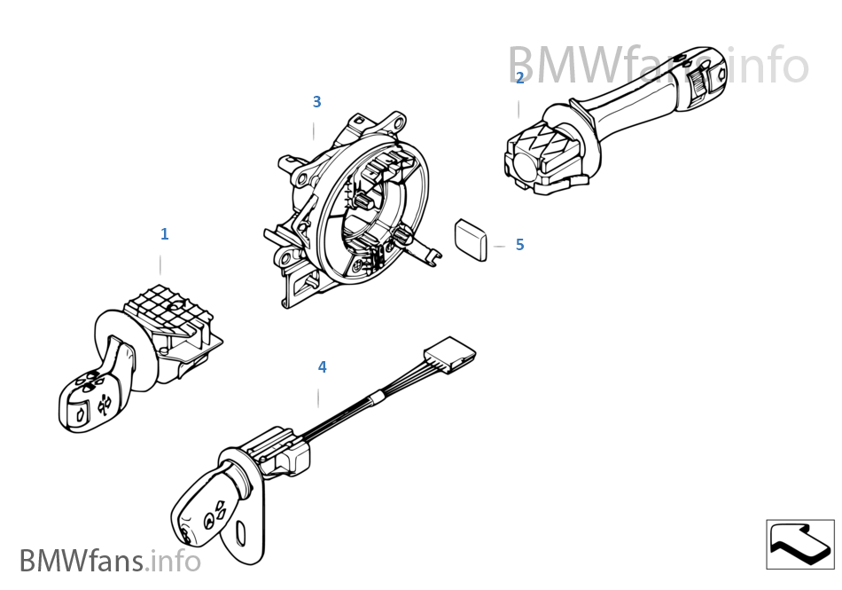 bmw 528i steering column diagram