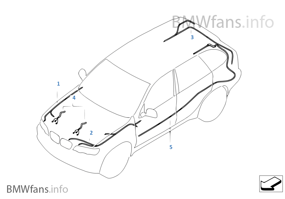 bmw e39 rear lights wiring diagram