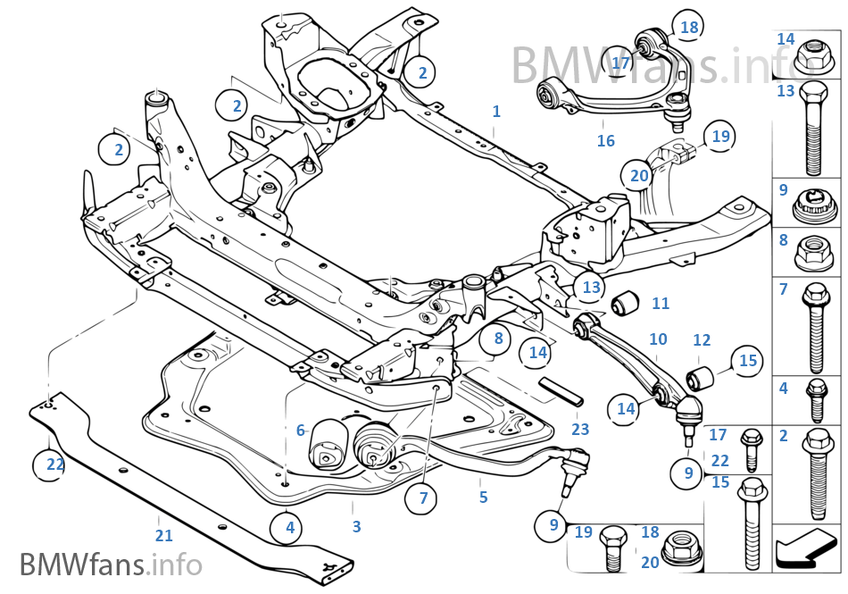 2006 bmw x5 rear suspension diagram