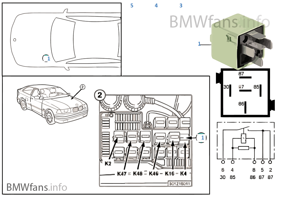 2008 Bmw 535i Fuse Diagram