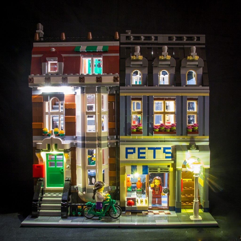 Straßenlaterne Mit Batterie Illuminate Your Bricks Led Beleuchtungs Set Für Lego