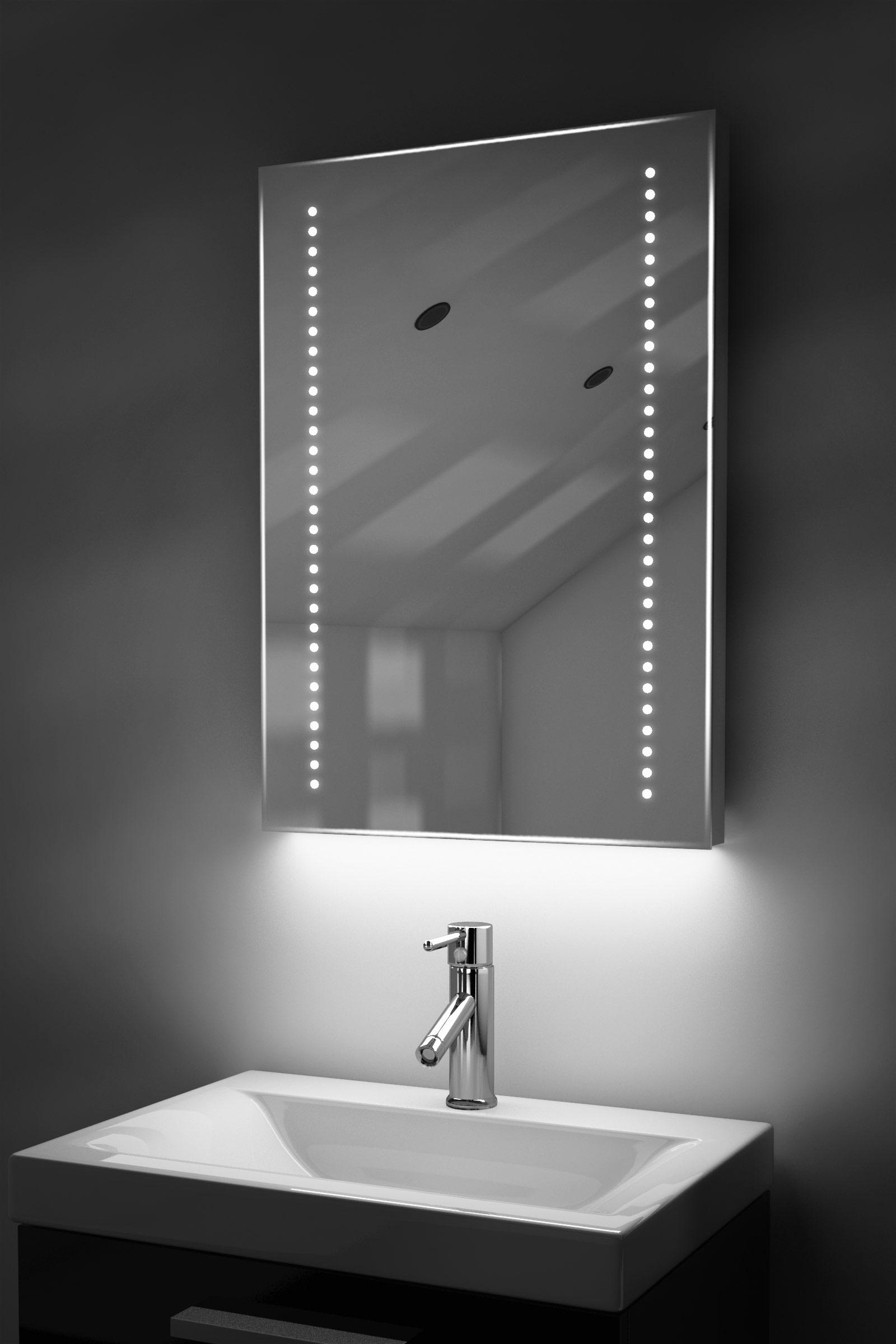 Bathroom Illuminated Mirror Cabinet Details About Ambient Ultra Slim Led Bathroom Mirror With Demister Pad Sensor K10