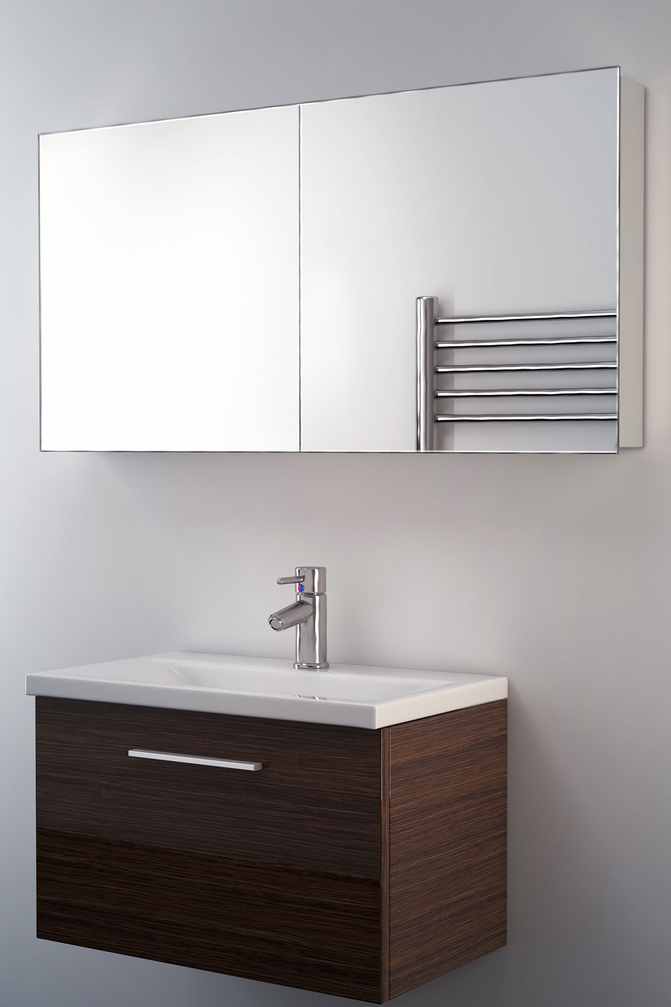 Bathroom Cabinet With Mirror Neptune Non Illuminated Bathroom Mirror Cabinet K140 Ebay