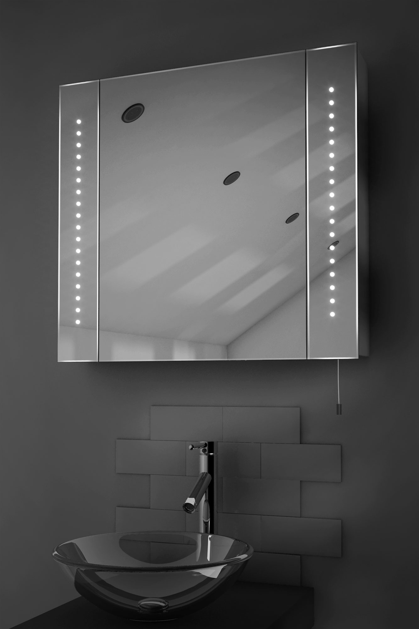 Battery Operated Bathroom Mirrors Regal Led Illuminated Battery Bathroom Mirror Cabinet With