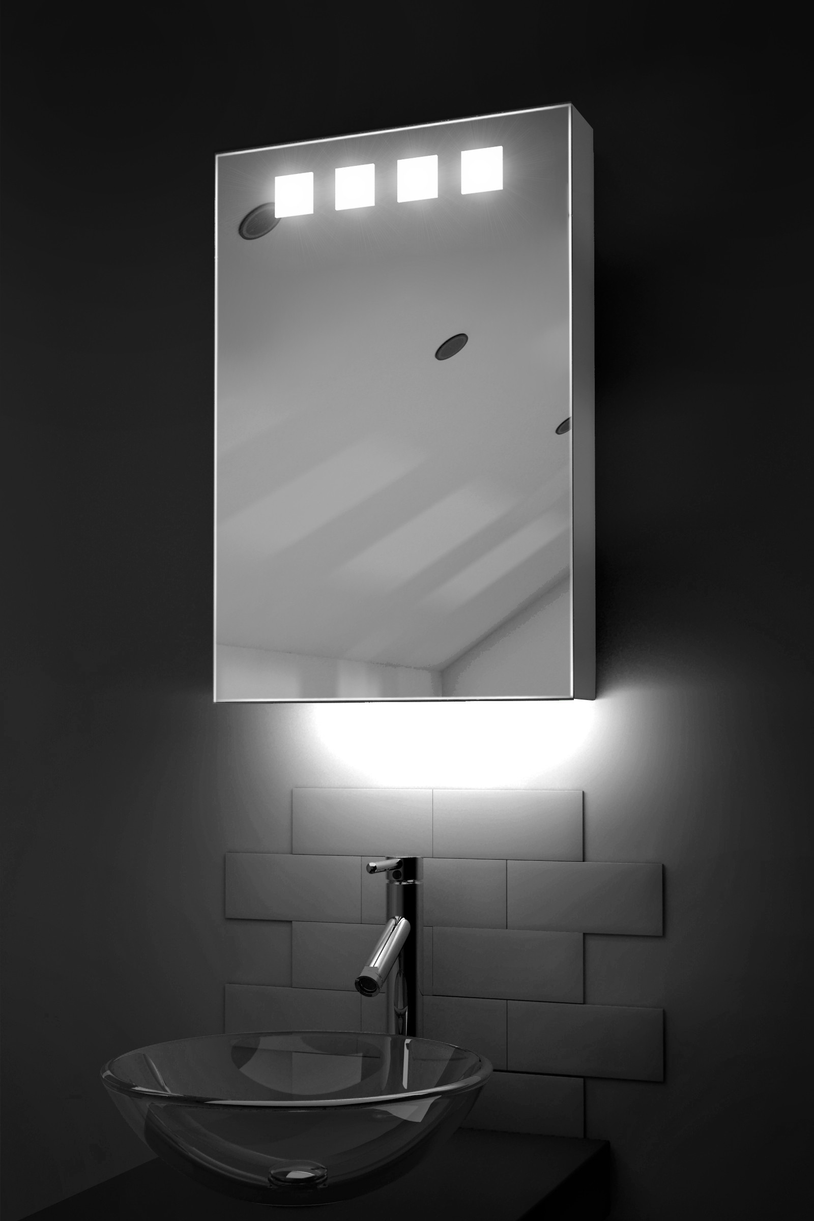 Badezimmerspiegel Theater Details About Ambient Bathroom Mirror Cabinet With Sensor Shaver Socket K254
