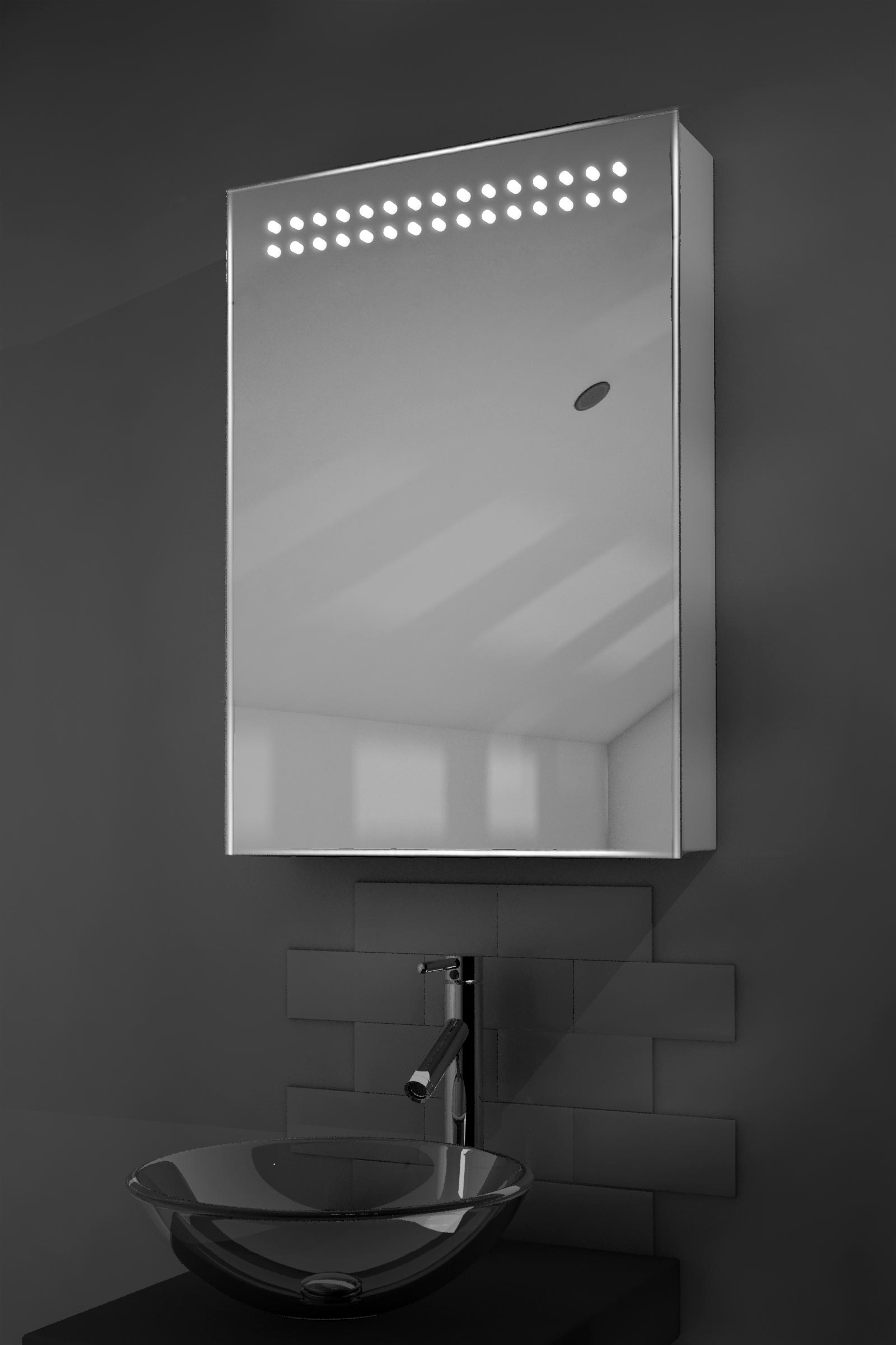 Bathroom Illuminated Mirror Cabinet Details About Vania Led Illuminated Bathroom Mirror Cabinet With Sensor Shaver K263