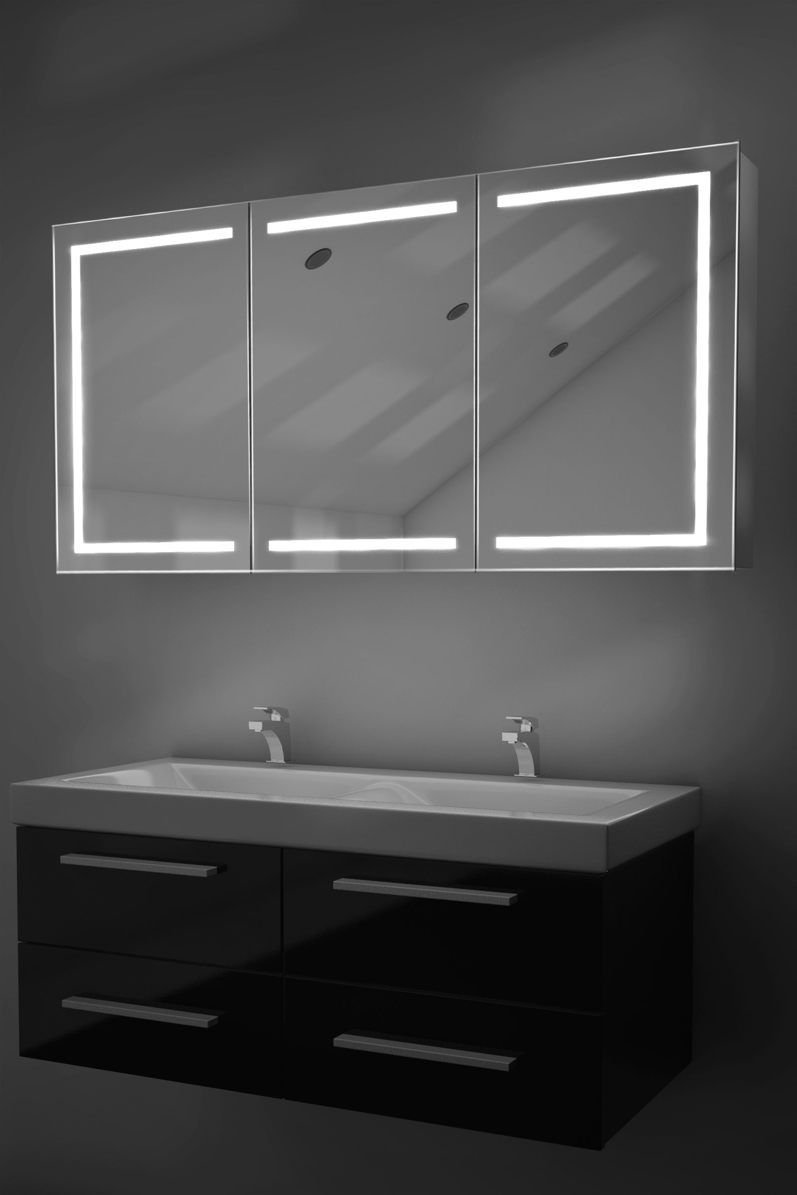 Bathroom Mirrors With Tv Built In Eliza Led Bathroom Cabinet With Demister Pad Sensor