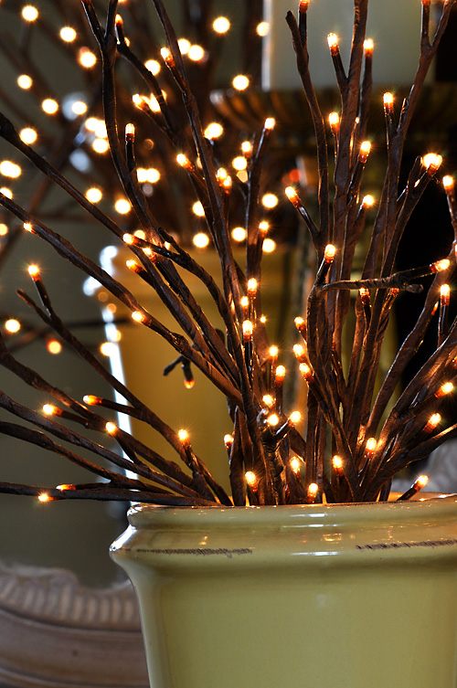 Outdoor String Lights For Trees Lighted Willow Branch 96 Bulb - 3 Stems From The Light Garden