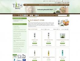 E-Commerce Design Tilth Beauty Skincare