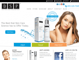 DSP Skincare Website