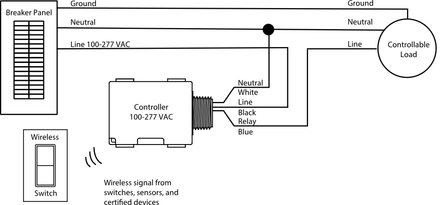 ul 924 relay wiring diagram for one fixture