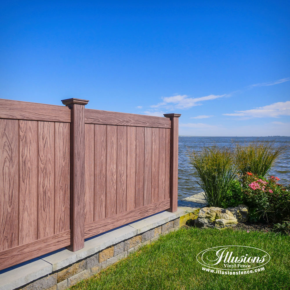 Vinyle Pvc Gorgeous Illusions Walnut Pvc Vinyl Fence Illusions Vinyl Fence