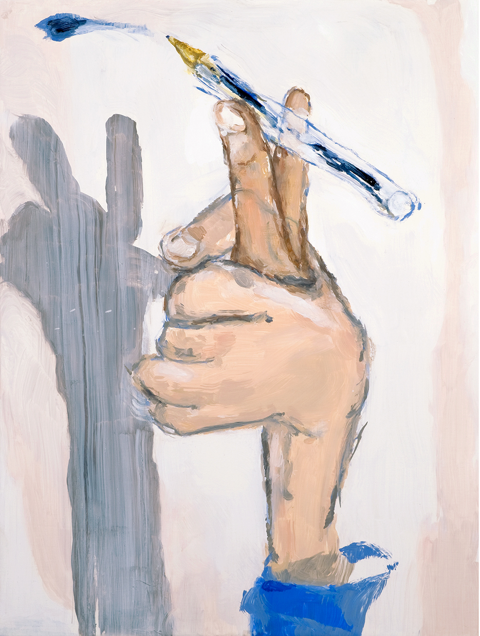 The fingers do the writing, oil on canvas, 30 x 40 cm, 2008