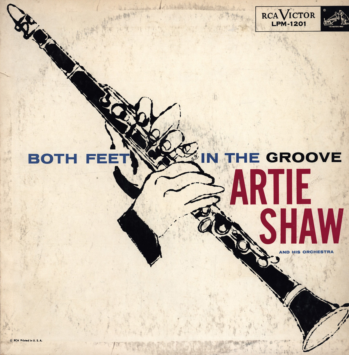 Artie Shaw Genre Lp Cover For Artie Shaw S Both Feet In The Groove Illustration