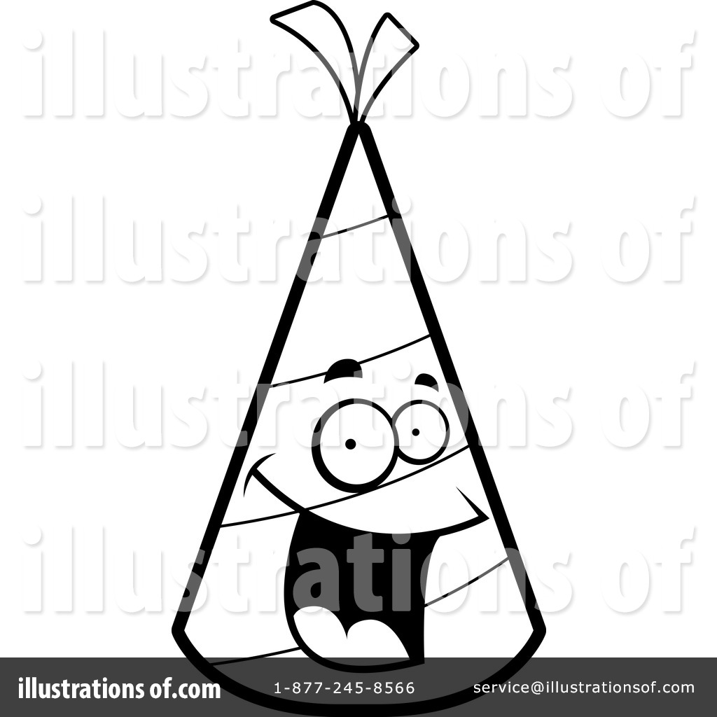 Party Hat Clipart Black And White Party Hat Clipart 1156838 Illustration By Cory Thoman