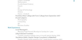 CV Design And Samples