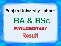 Punjab University BA/BSc Supplementary Result 2015