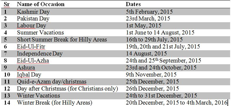 Permanent Calendar July July Wikipedia Pakistan Public Holidays 2015 And Events