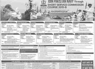 Join Pak NAVY Through Short Service Commission 2015 B Online Registration Form