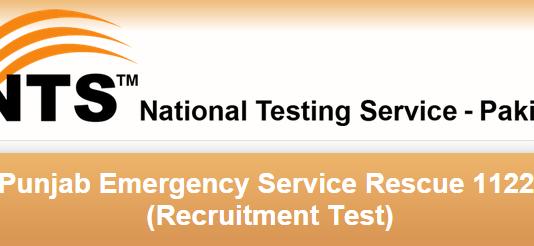 Rescue 1122 NTS Test Result 2015 Punjab Answer Keys
