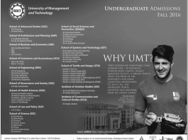 University of Management and Technology UMT Admissions 2016