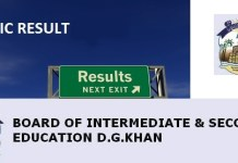 DG Khan Board Matric 10th Class Result 2015 www.bisedgkhan.edu.pk