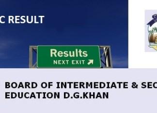 DG Khan Board Matric 10th Class Result 2015 www.bisedgkhan.edu.pk
