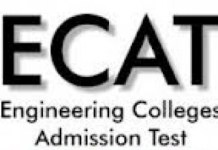 UET Lahore ECAT Entry Test Result 2016 Check Online