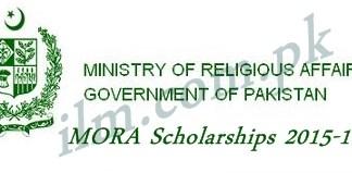 MORA Zakat Fund Scholarship 2015-16 Form Date Eligibility