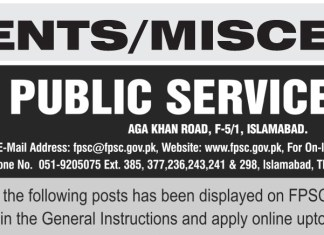 FPSC Charge Nurse Jobs 2016 Apply Online Last Date, Advertisement (2)