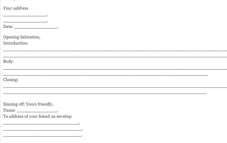 Format and Features of Informal Letter for Students - Ilmi Hub