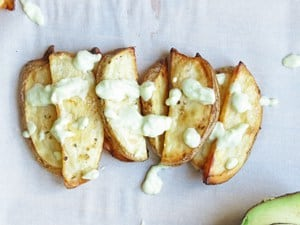 Baked Potato Fries with Avocado Aioli - Ilona's Passion