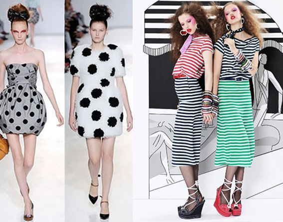 Stripes or Polka dots?with a touch of stars - I Love Green - stripes with polka dots