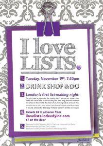 I Love Lists @ DSD