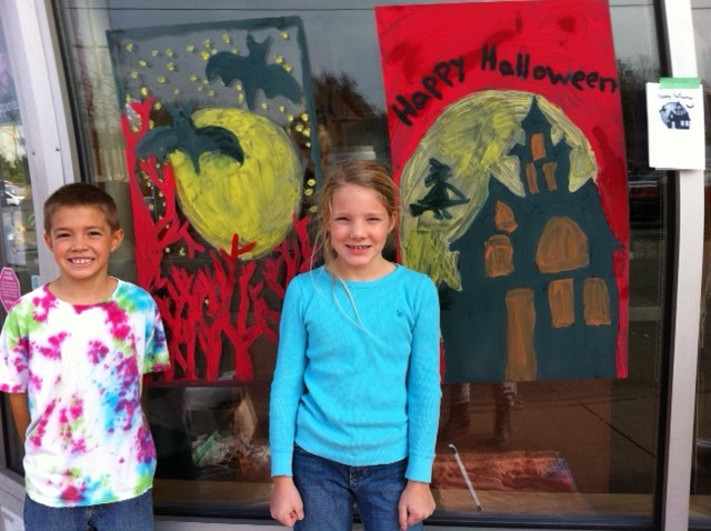 Halloween Window Painting Masterpieces