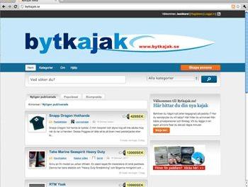 En ny annonstjänst smyglanseras. – Bytkajak.se