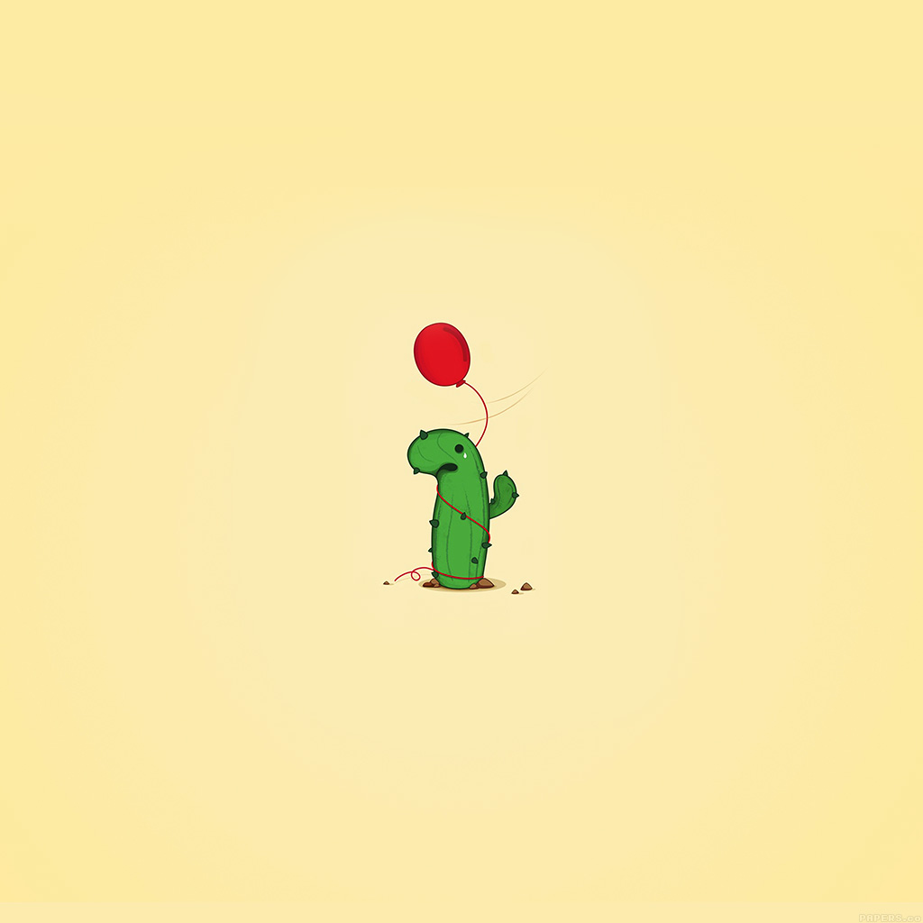 Good Morning Hd Wallpaper With Cute Baby I Love Papers Ai35 Cute Cactus Ballon Illust Art Minimal
