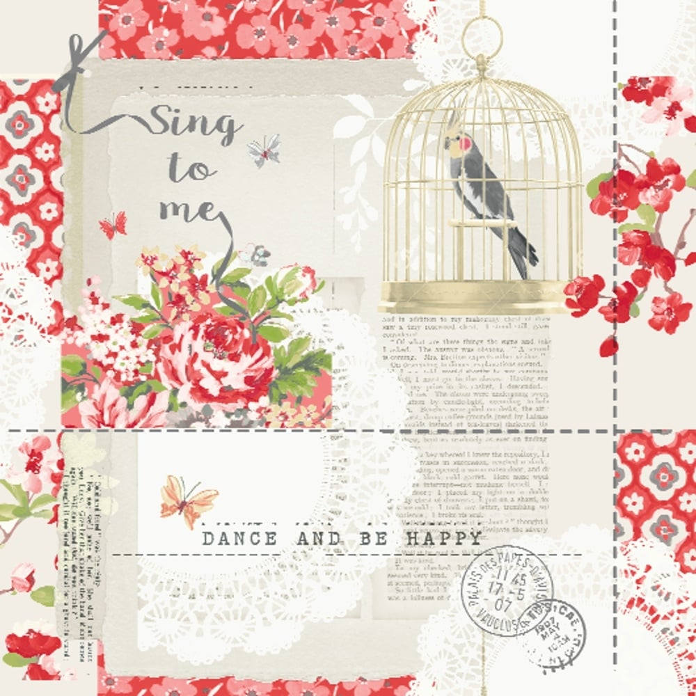 Shabby Chic Arthouse Options 2 Sing To Me Shabby Chic Wallpaper Red 671300