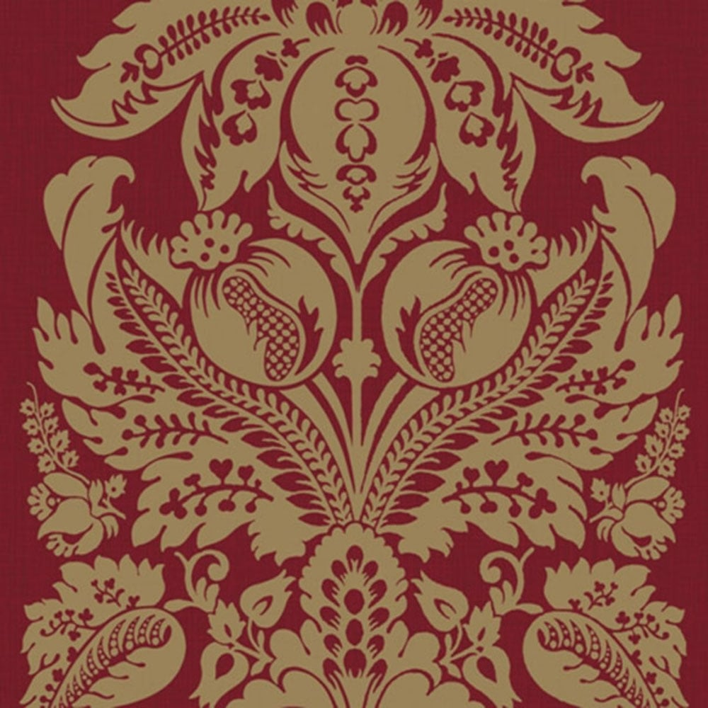 Vintage Metallregal Arthouse Vintage Teramo Damask Wallpaper Regal Red (952104) - Wallpaper From I Love Wallpaper Uk
