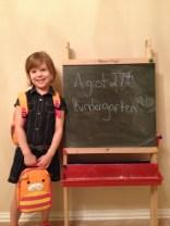 August 27th, Kindergarten