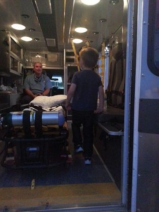 Logan in the Ambulance