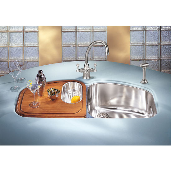 Kitchen Sinks 45 1 2 W Vision Stainless Steel Double