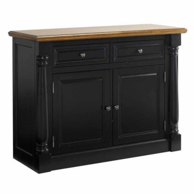 Home Styles Monarch Buffet and Hutch, Oak and Black ...