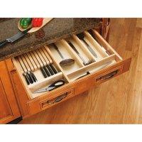 Drawer Organizers - Wood Knife Block Kitchen Drawer Insert ...