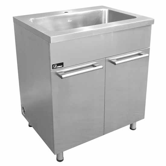 Stainless Steel Sink Base Cabinet With Built In Garbage