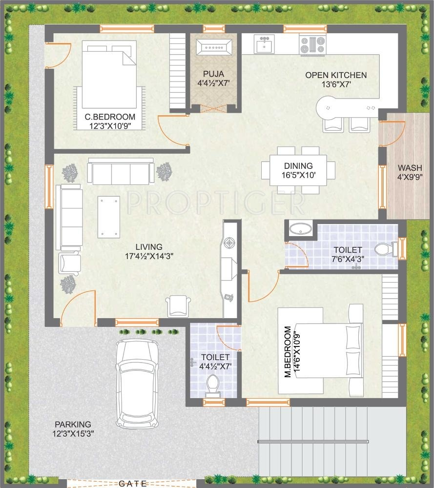 100 2 bhk small house design download free plans 260 sq yds