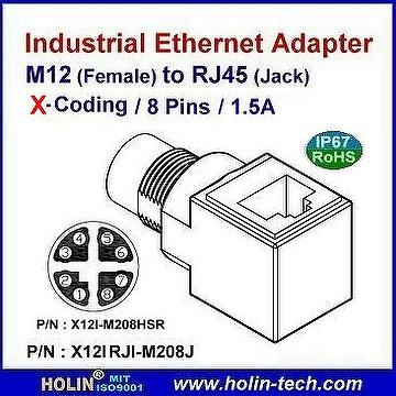 Taiwan M12 Industrial Ethernet connector and Cable Assembly HTP