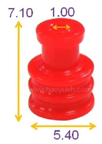 Taiwan 7158-3030-50 (HY1250) Wire Seals For Wiring Harness , Red