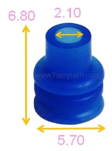 Taiwan 1-1437713-3 (HY1127), Wire Seals For Wire Harness, Blue, TE