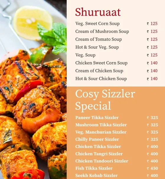 Cuisine Cosy Get 10 Discount At Cosy Restaurant Hauz Khas South Delhi Delhi
